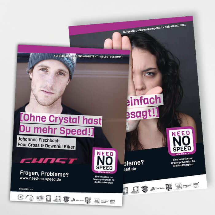 Need No Speed Plakatgestaltung
